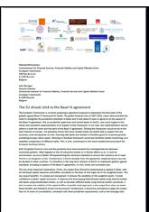 Joint letter concerning Basel III