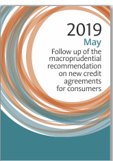 Macroprudential Recommendation on new credit agreements for consumers - May 2019