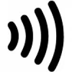 símbolo contactless