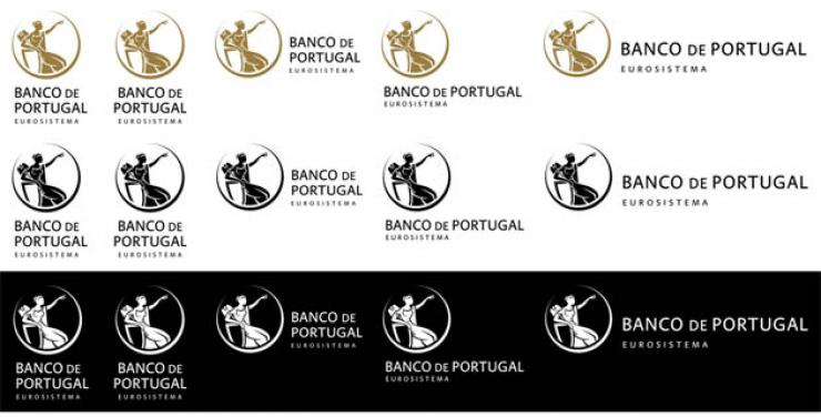 Assinaturas do novo logotipo do Banco de Portugal